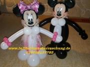Mickey und Minnie Mouse aus Luftballon/Brautpaar