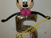 Zahl mit Minnie Mouse
