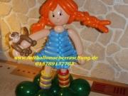 Pippi Langstrumpf aus Luftballons