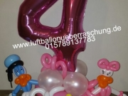 Kindergeburtstag Dekoration, Figuren aus Luftballons