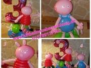 Schweinchen Peppa aus Luftballons