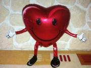 Airwalker Herz mit Helium