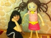 Puppe/Mädchen aus Luftballons
