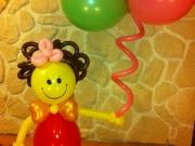 Puppe/Smile aus Luftballons