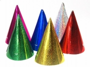 Holographischen Party-Hüte, 6 Stück