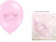 Luftballons und Servietten zur Geburt, Taufe oder Geburtstag