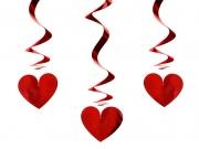 Herz Spirale, 3 Stück