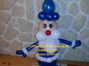Santa Klaus aus Luftballons