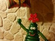 """""""Hallo Weihnachten"""" Tannenbaum aus Luftballons"""